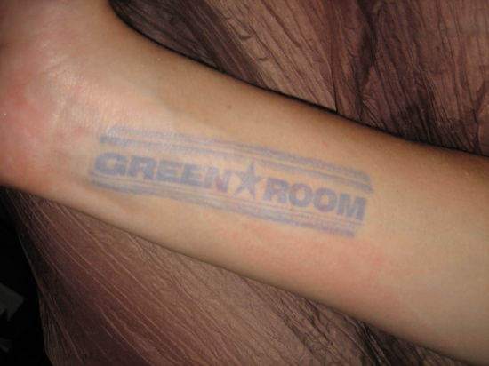 Green Room stamp