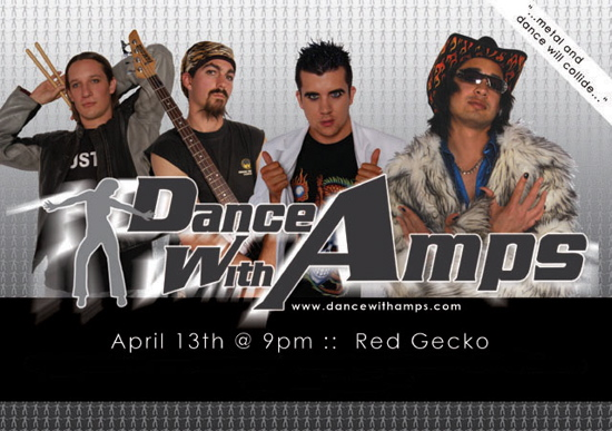 Dance With Amps flyer