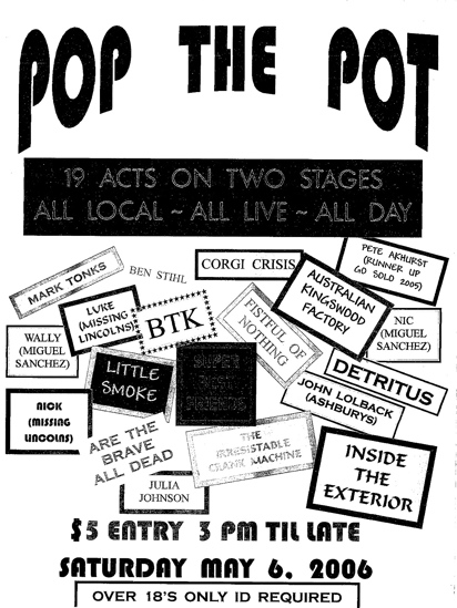 Pop The Pot 2006 Flyer