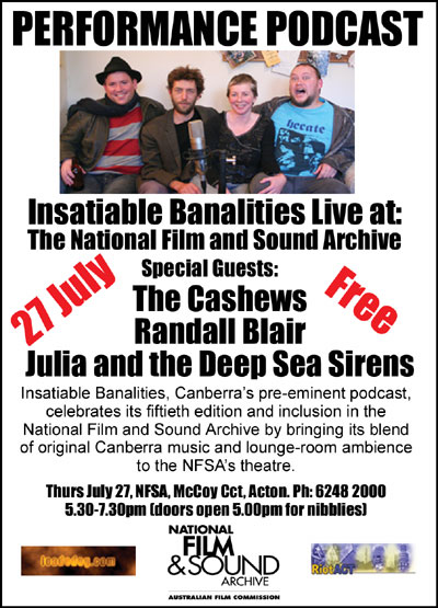 Insatiable Banalities Live! Poster
