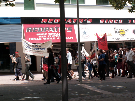 Civil Liberties Protestors in Garema Place