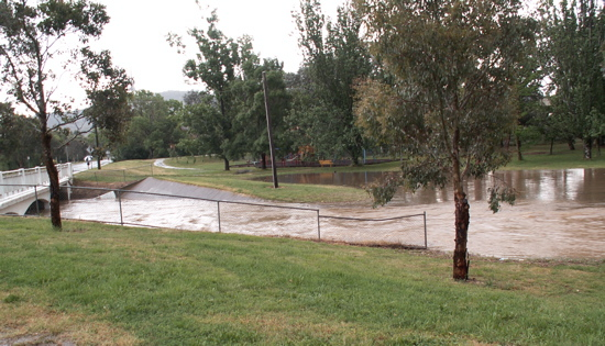 Sullivans Creek in Flood