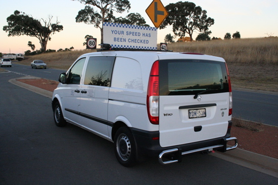 Speed van in Canberra