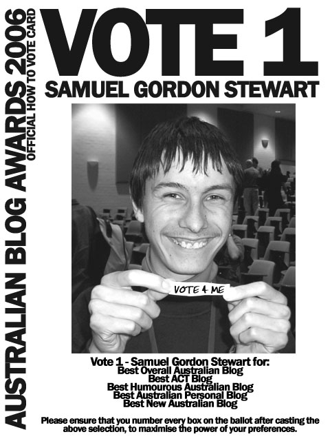 Vote 1 Samuel Gordon-Stewart