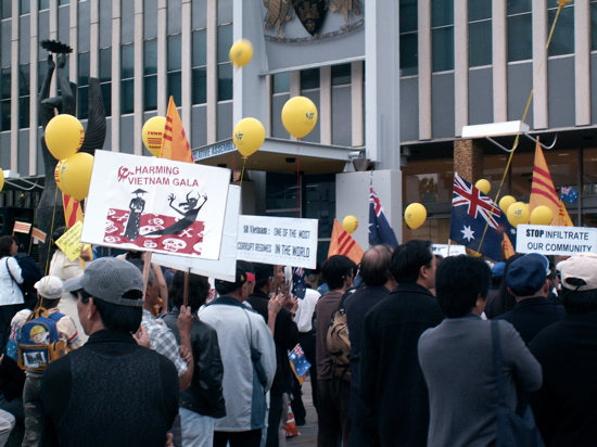 South Vietnamese protest